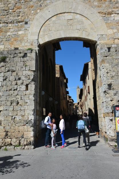 At the entrance to San Gimignano