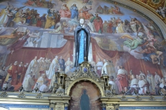 Paintiing by Michaelangelo in the Sisteen Chapel.