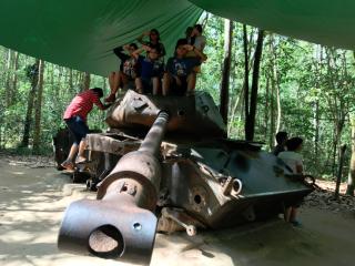 U.S. Tank left behind