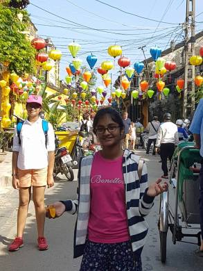 Street with handcrafted lanterns