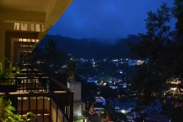 View from the hotel at night