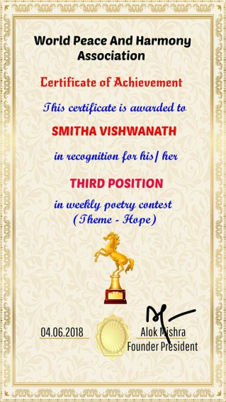 certificate for Hope