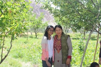 With a Ladakhi woman