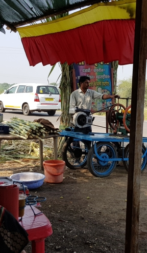 Sugarcane juice vendor