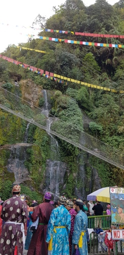 The Bakthang falls