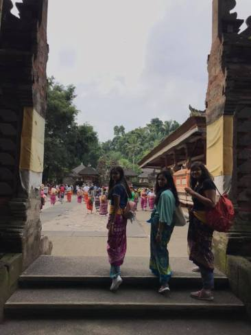 Entering the temple gates