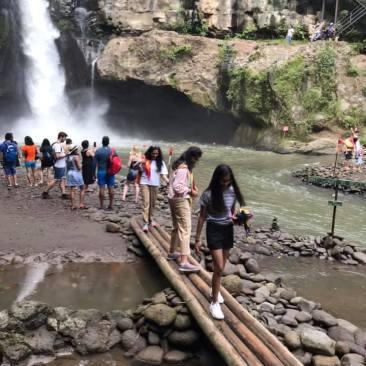 The Bamboo bridge to the Falls