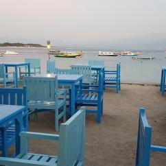 The restaurants on the beach