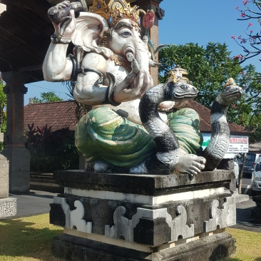 The idol of Ganesha outside the temple