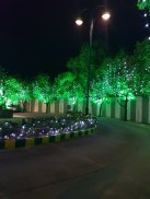 Building lit up for Diwali